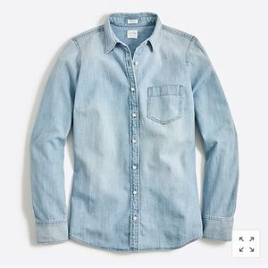 J. crew chambray shirt in perfect fit